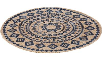 LUXOR living Teppich »Mamda«, rund, 4 mm Höhe, In- und Outdoor geeignet, Wohnzimmer kaufen