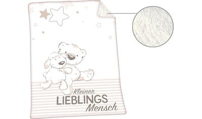 Babydecke »Jonas Lieblingsmensch«, Herding kaufen