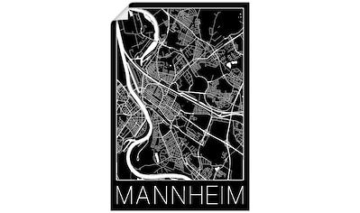 Artland Wandbild »Retro Karte Mannheim Deutschland Schwarz«, Deutschland, (1 St.), in... kaufen