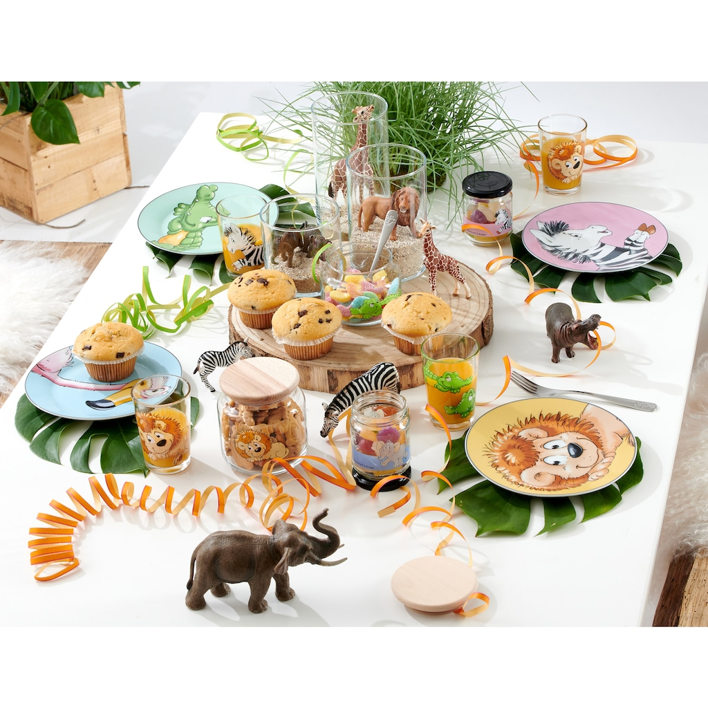 Ritzenhoff & Breker Kinderbesteck »Happy Zoo«, (Set, 4 tlg.), Edelstahl 18/10, 4-teilig