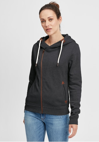 OXMO Kapuzensweatjacke »Vicky Zip-Hood«, Sweatshirtjacke mit asymmetrischen... kaufen