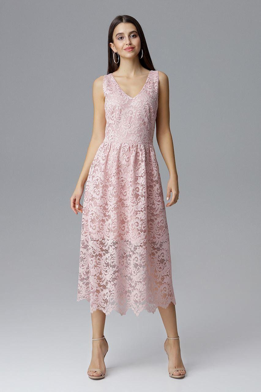 FIGL Kleid mit tollem Spitzenbesatz