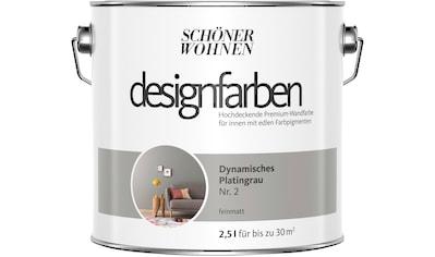 SCHÖNER WOHNEN-Kollektion Wand- und Deckenfarbe »Designfarben«, Dynamisches Platingrau Nr. 2, feinmatt 2,5 l kaufen