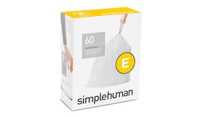 simplehuman Müllbeutel passgenaue Müllbeutel Nachfüllpack code E kaufen