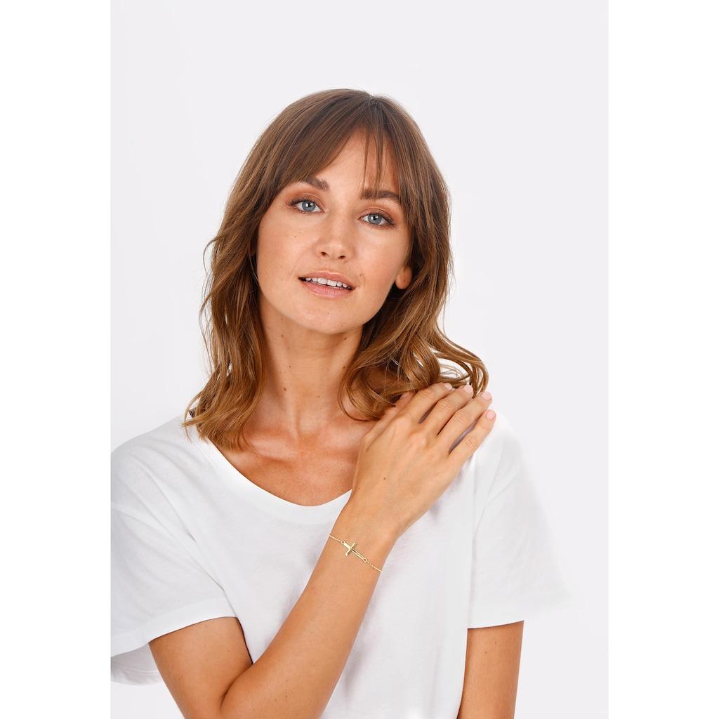 Elli Armband »Kreuz Horizontal Schlicht 925 Silber«