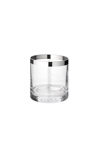 EDZARD Windlicht »Molly«, Laerne aus Kristallglas mit Platinrand, Kerzenhalter für... kaufen