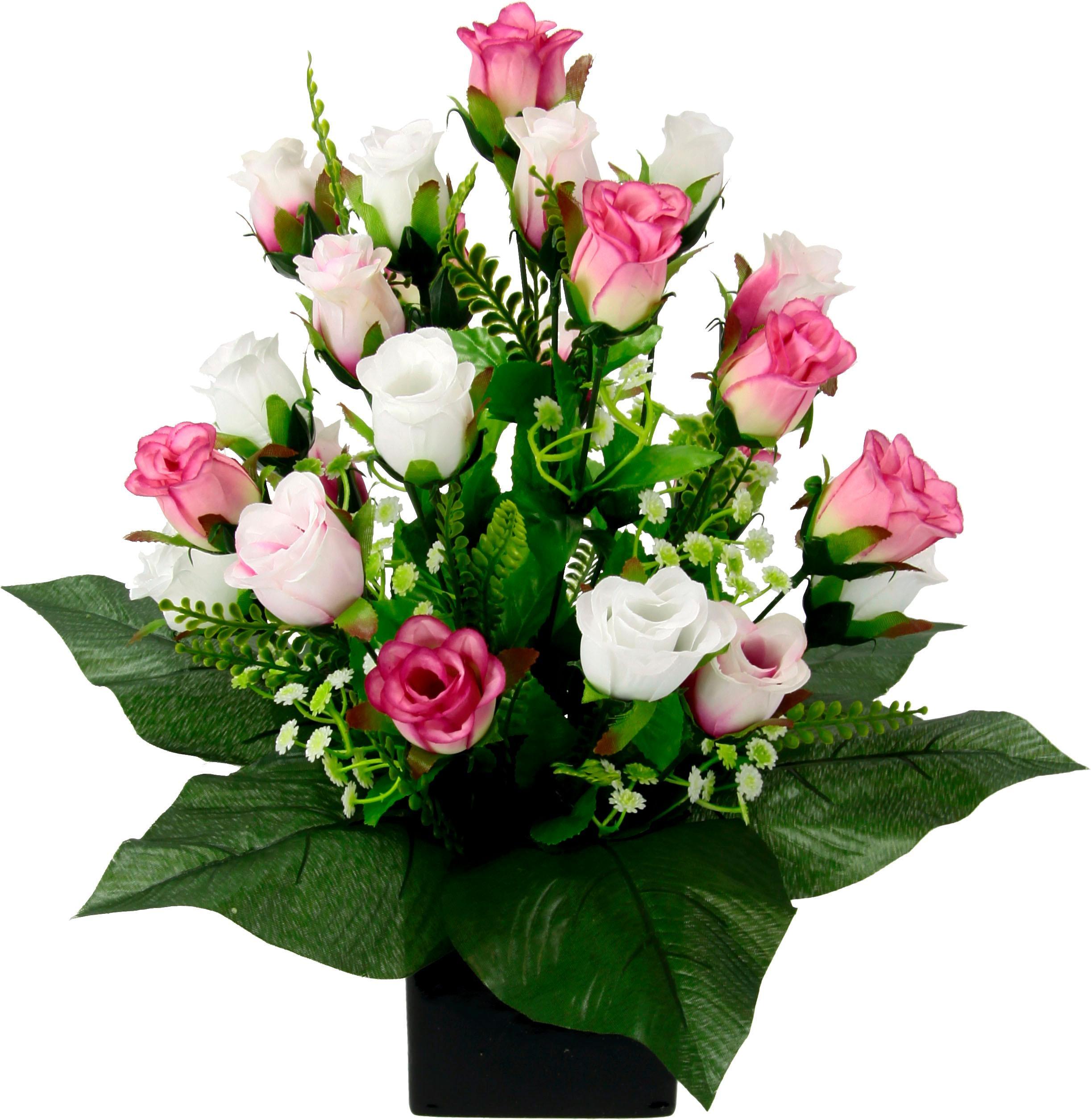 I.GE.A. Kunstpflanze, im Topf rosa Künstliche Zimmerpflanzen Kunstpflanzen Wohnaccessoires Kunstpflanze