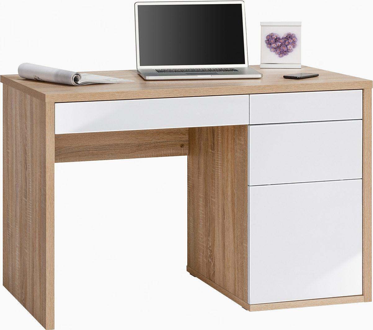Maja Möbel Schreibtisch »Wismar« mit Push-to-Open-Funktion | Büro > Bürotische > Schreibtische | Braun | Hochglanz - Abs - Melamin | MAJA MÖBEL