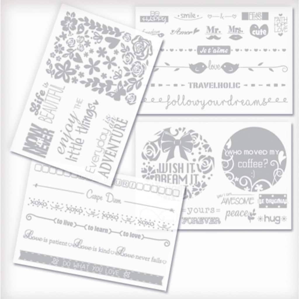 Knorrtoys® Kreativset »GLITZA FASHION Deluxe Set Express Yourself«, (Set), Klebedesigns lassen sich fast überall anbringen