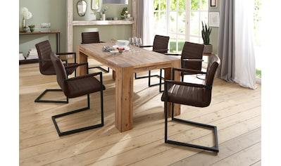Home affaire Essgruppe »Bine«, (Set, 7 tlg.), bestehend aus 6 Sabine Stühlen mit... kaufen