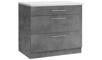 wiho Küchen Unterschrank »Cali«, 90 cm breit, mit 2 großen Auszügen kaufen
