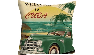"""Kissenhülle """"Welcome to Cuba"""" queence kaufen"""