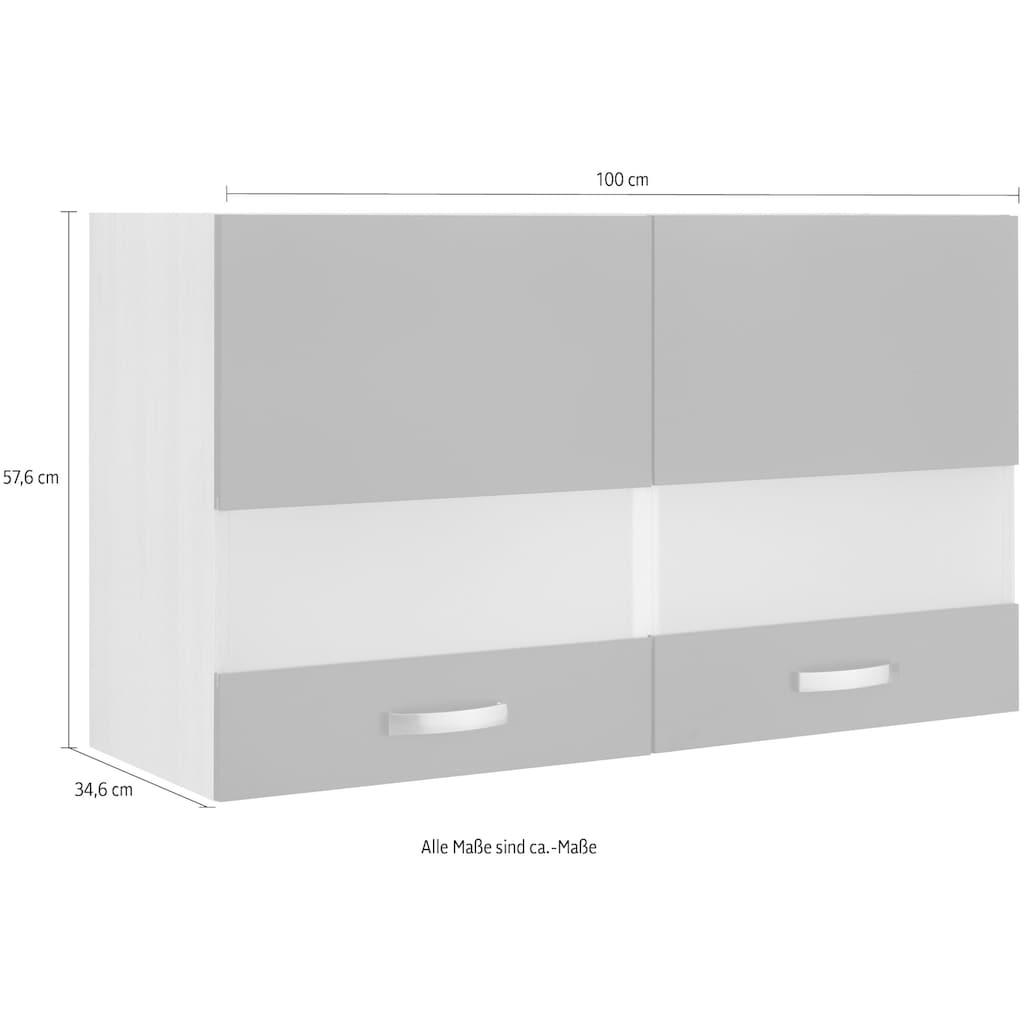 OPTIFIT Glashängeschrank »Faro«, mit Metallgriffen, Breite 100 cm
