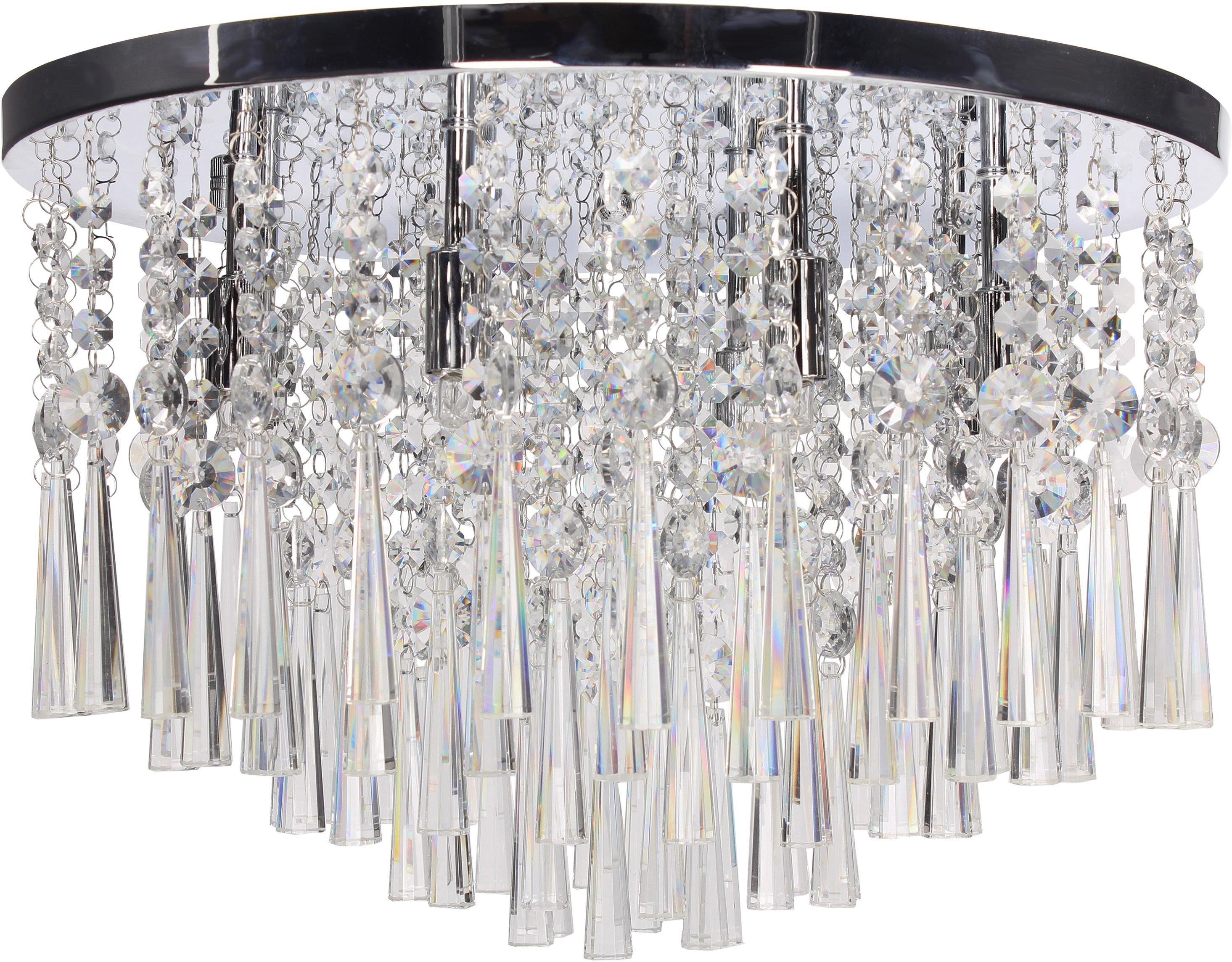 SPOT Light Deckenleuchte LUXORIA, G9, Warmweiß, Hochwertige Leuchte mit echtem Kristallen, LED-Leuchtmittel inklusive, Zeitlos und elegant.