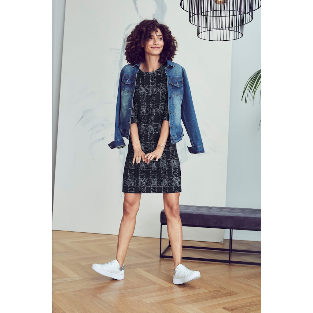 Aniston SELECTED Jerseykleid, mit feiner Rippenstruktur