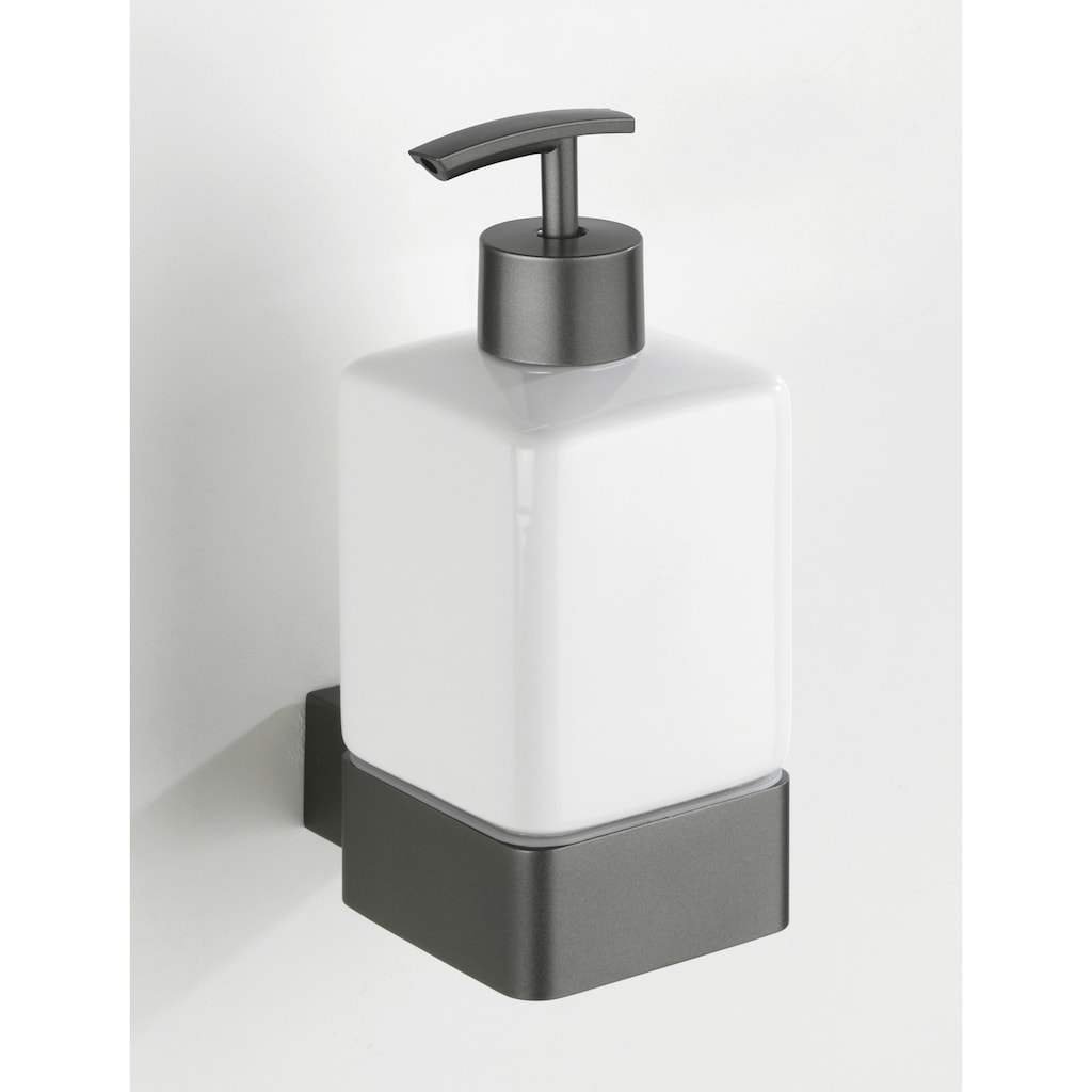 WENKO Seifenspender »Montella«, Aluminium & Keramik, Wandmontage