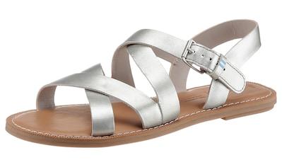 TOMS Sandale »SICILY«, im Metallic-Look kaufen