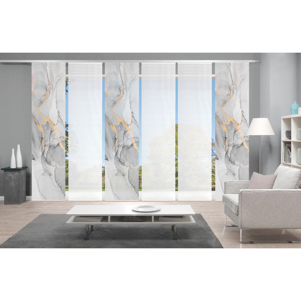 Vision Schiebegardine »MARMOSA 6er SET«, Bambus-Optik, Digital bedruckt