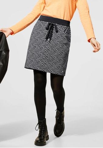 STREET ONE Minirock »Happy«, mit Zierschleife kaufen