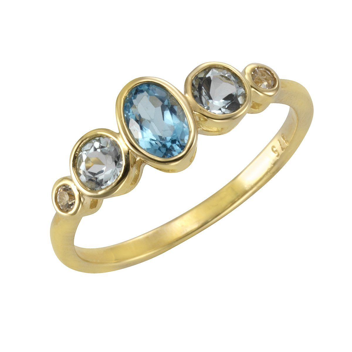 VIVANCE Ring 375/- Gelbgold mit Blautopas/Weißtopas | Schmuck > Ringe | Gelb | Vivance
