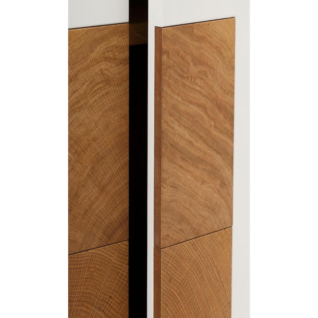 WHITEOAK GROUP Highboard »Lanzo«, aus massivem Eichenholz in hochwertiger Verarbeitung