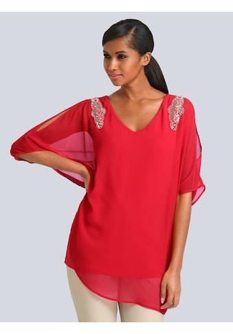 Alba Moda Bluse mit Strassbesatz an der Schulter kaufen