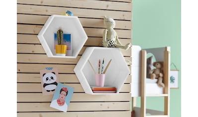 Lüttenhütt Wandregal »Hexagon«, (2er-Set) kaufen