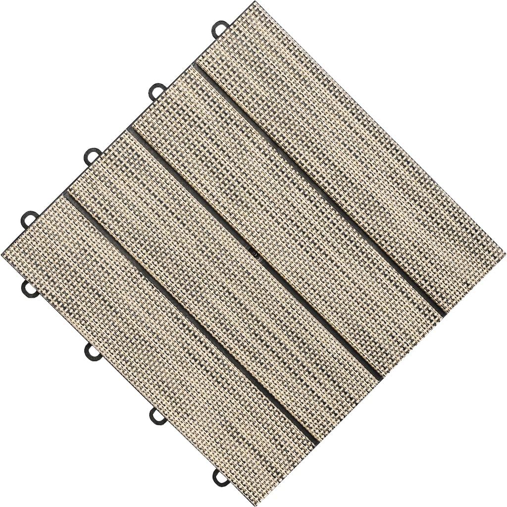 florco® Terrassenplatten »Tex«, Klickfliesen