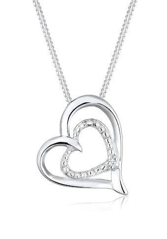 Diamore Collierkettchen »Herz Liebes Diamant (0.02 ct.) 925 Silber« kaufen