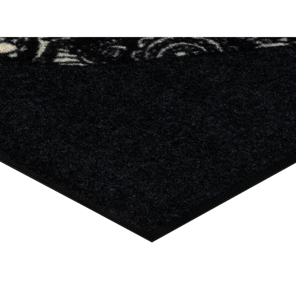wash+dry by Kleen-Tex Fußmatte »Liebe ist alles«, rechteckig, 7 mm Höhe, Schmutzfangmatte, In- und Outdoor geeignet, waschbar