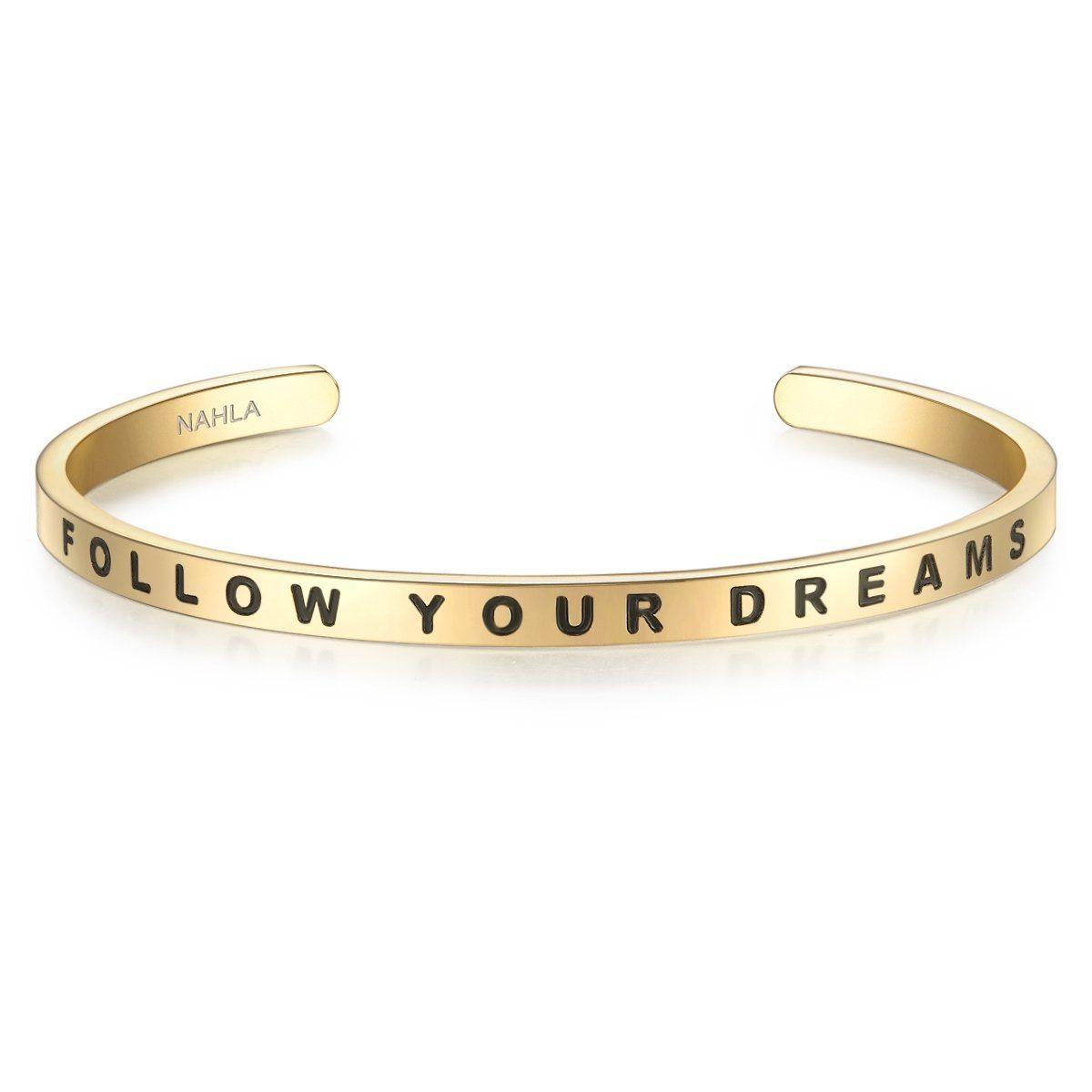 Nahla Jewels Armreif X289 | Schmuck > Armbänder > Armreifen | Goldfarben | Nahla Jewels
