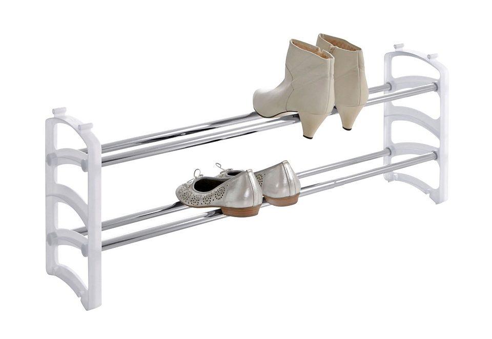 Schuhregal, 2 Stück weiß Schuhregal Schuhregale Schuhschränke Garderoben