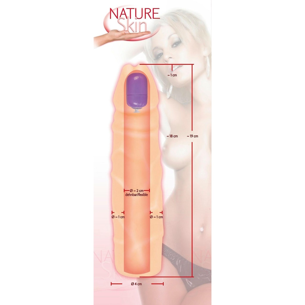 NATURE SKIN Penishülle »Nature Skin Sleeve with bullet«
