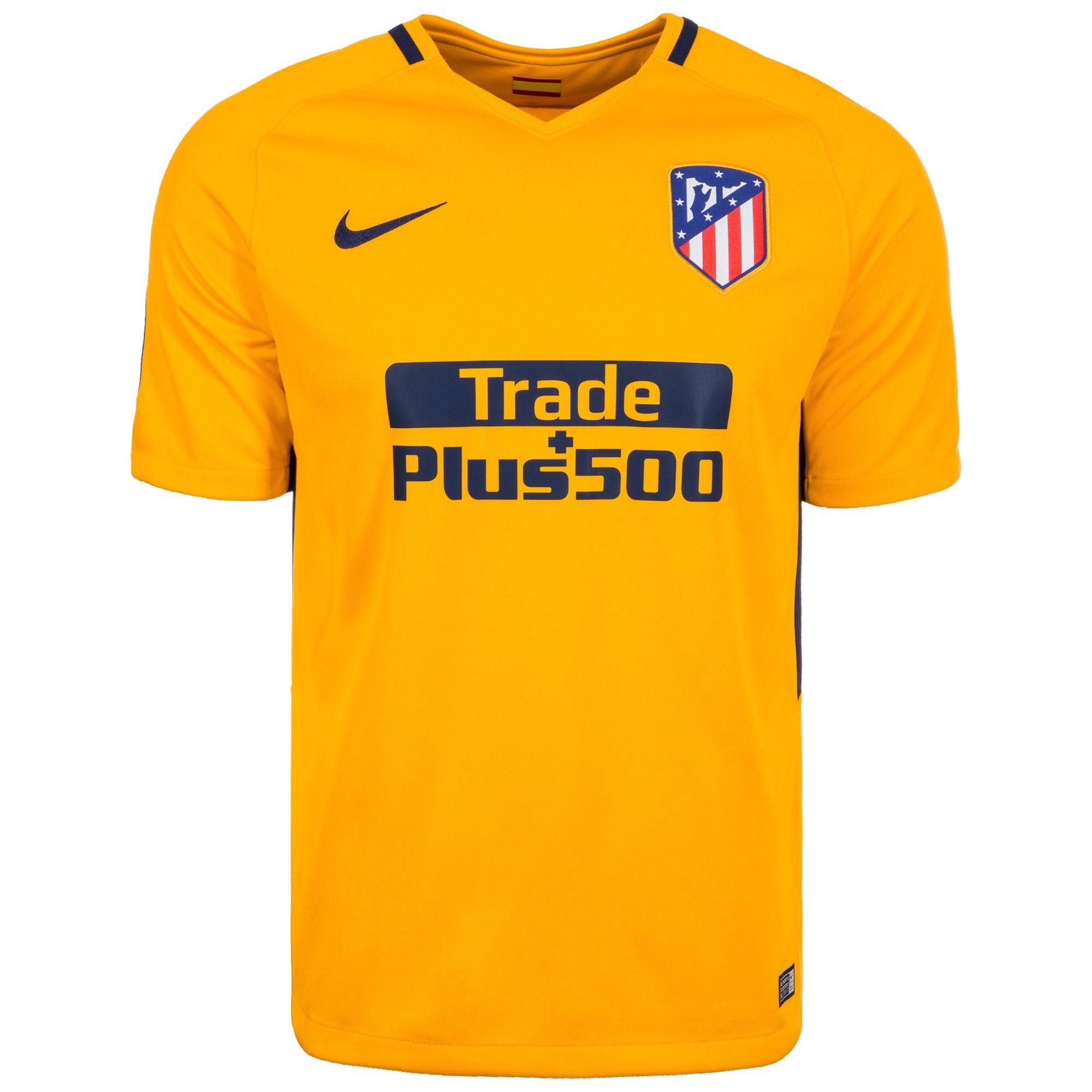 Nike Fußballtrikot Atletico Madrid Stadium 17/18 Auswärts | Sportbekleidung > Trikots > Fußballtrikots | Gelb | Trikot | Nike