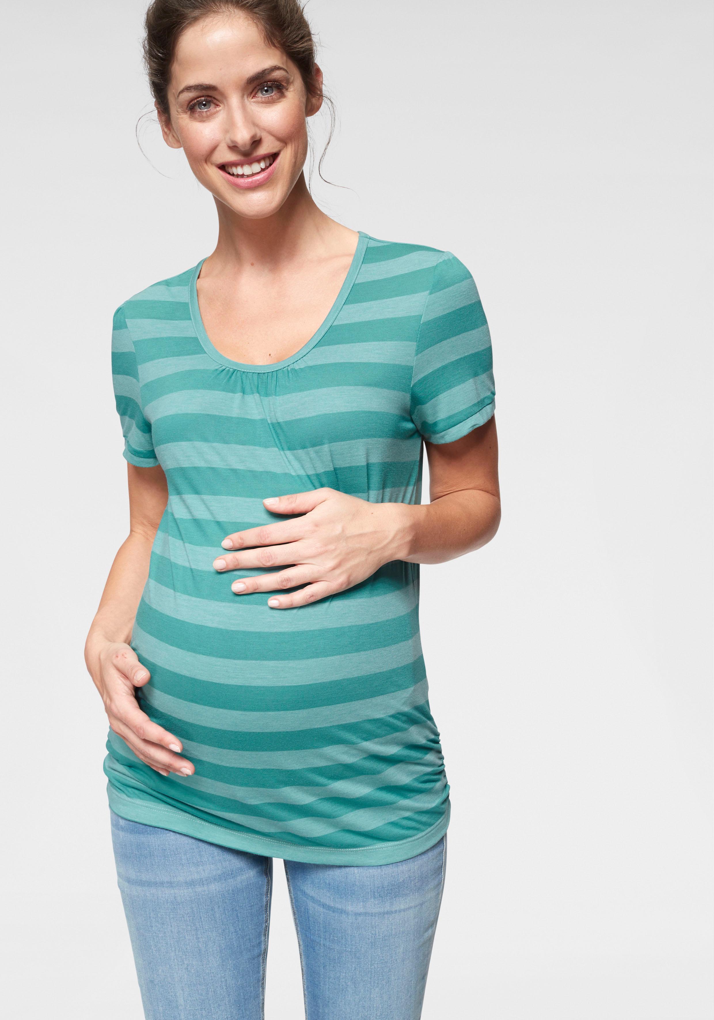 Neun Monate Umstandsshirt | Bekleidung > Umstandsmode | Grün | Neun Monate