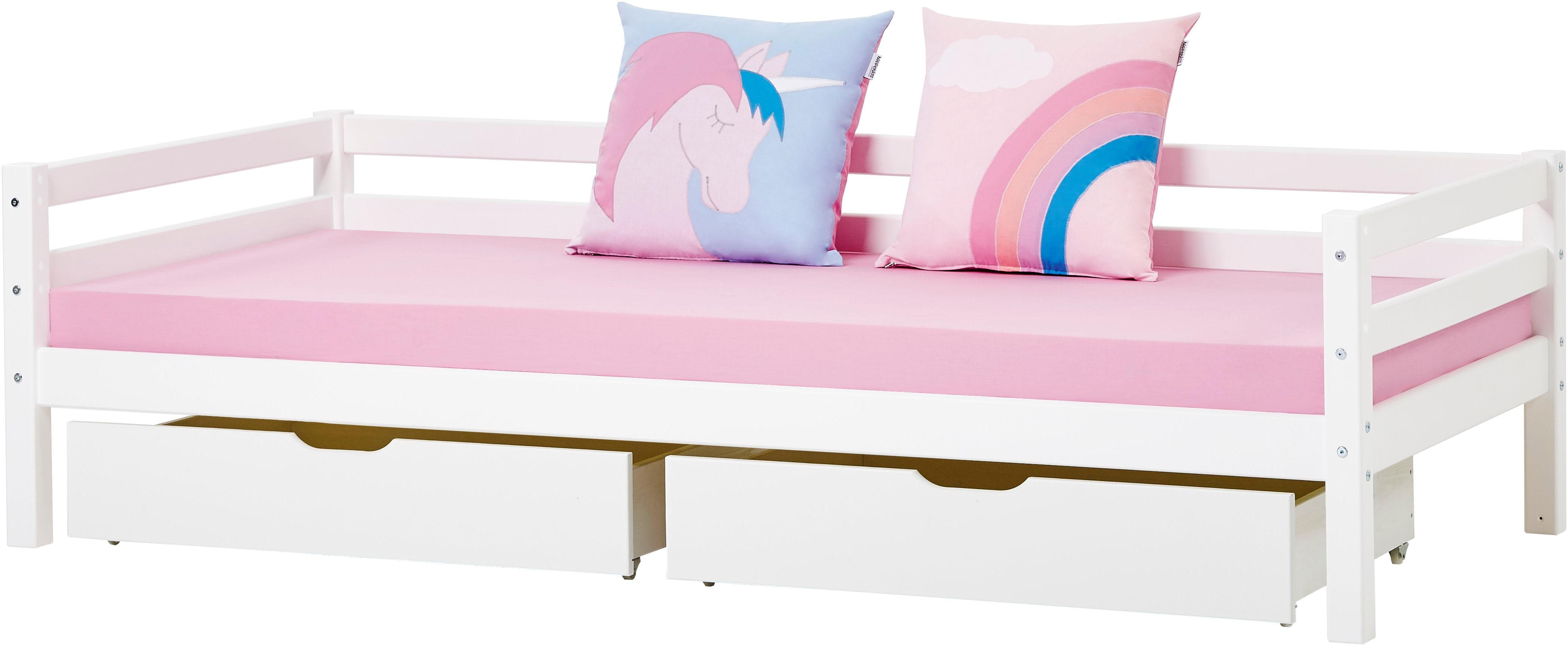 Hoppekids Sofabett inkl Schubkastenset passend für Einhorn- oder Romantik-Motiv