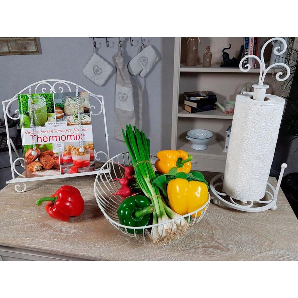 Home affaire Küchenrollenhalter »Antik II«, weiß