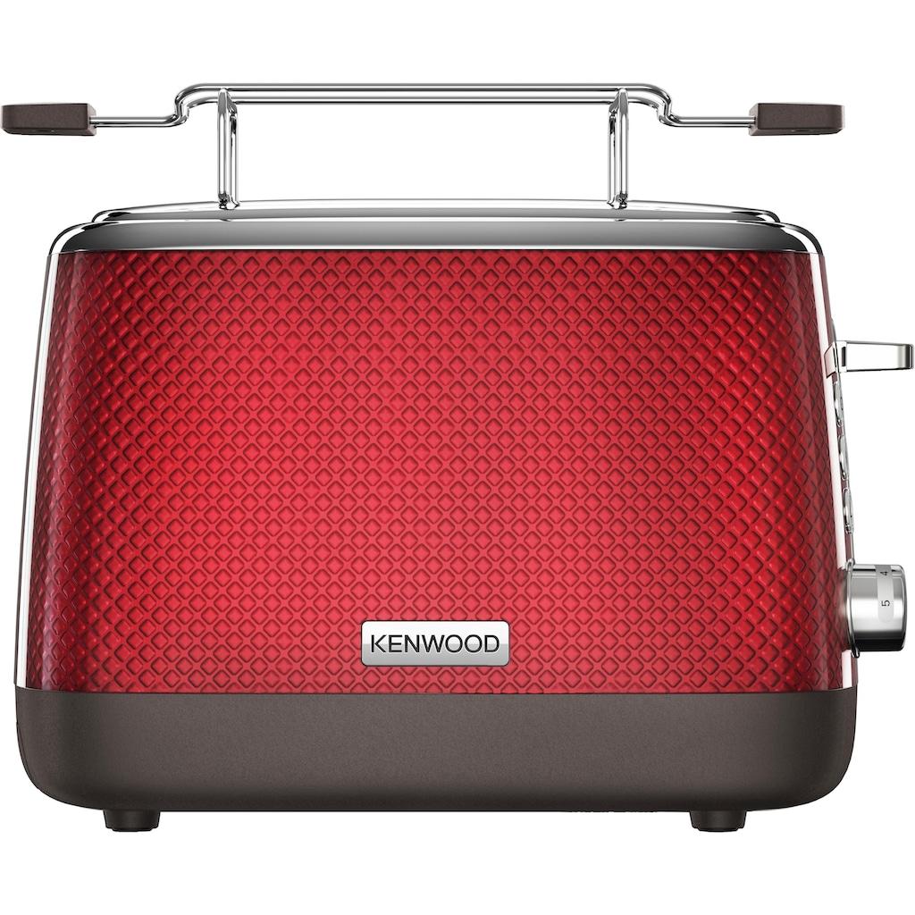 KENWOOD Toaster »Mesmerine TCM811.RD«, 2 kurze Schlitze, für 2 Scheiben, 1000 W