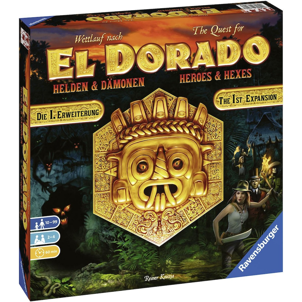 Ravensburger Spiel »Erweiterungsspiel, Wettlauf nach El Dorado Helden & Dämonen - 1. Erweiterung«, Made in Europe, FSC® - schützt Wald - weltweit