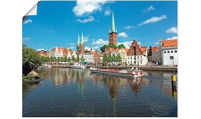 Artland Wandbild »Blick auf die Lübecker Altstadt« kaufen