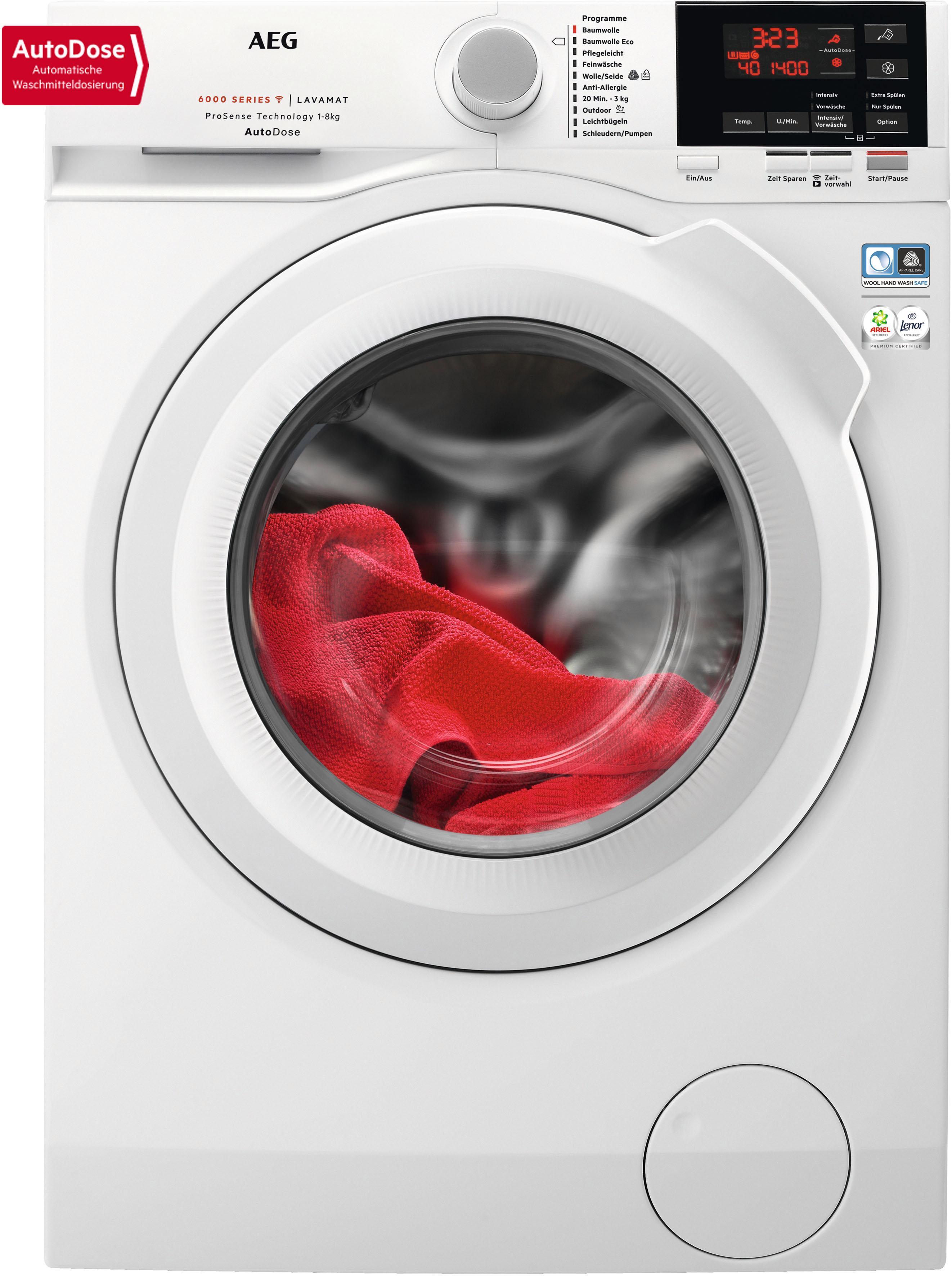 AEG Waschmaschine Serie 6000 L6FB68480   Bad > Waschmaschinen und Trockner > Frontlader   Weiß   Aeg Electrolux