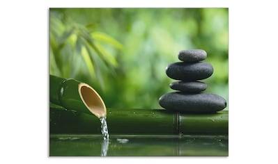 Artland Küchenrückwand »Bambusbrunnen und Zen-Stein« kaufen