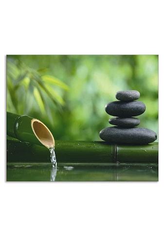 Artland Küchenrückwand »Bambusbrunnen und Zen-Stein«, selbstklebend in vielen Größen -... kaufen