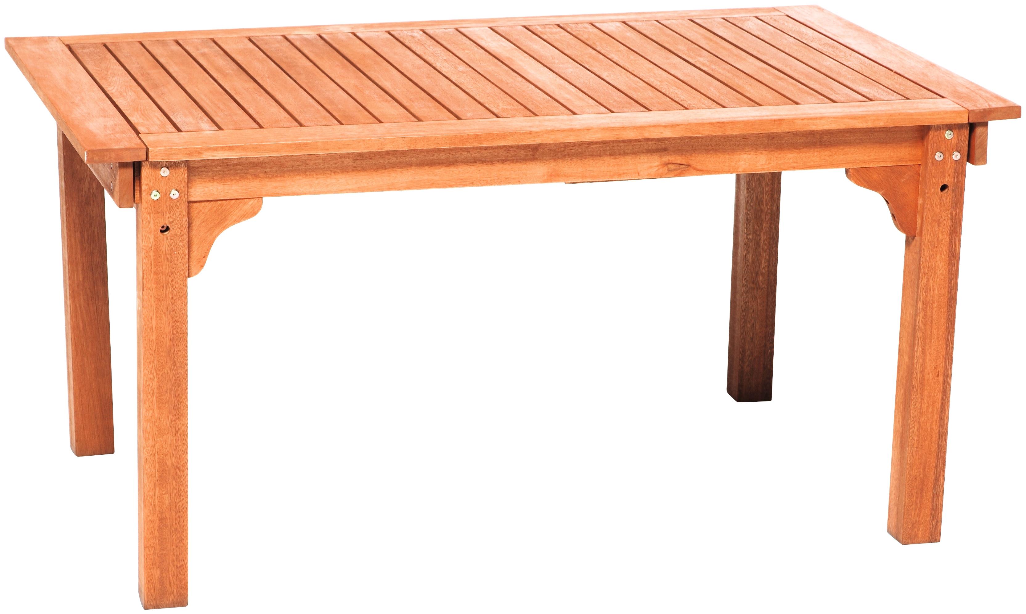 MERXX Gartentisch Eukalyptus ausziehbar 220x90 cm braun