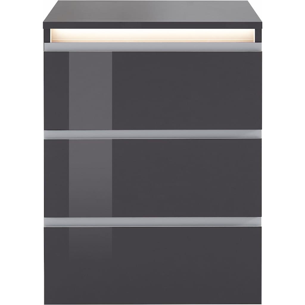 Tecnos Nachtkommode »Mailand«, Höhe 66 cm