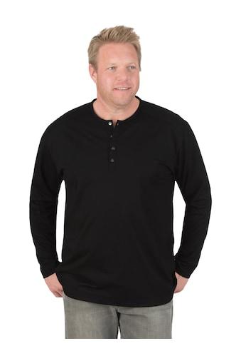 Trigema Langarmshirt mit Knopfleiste kaufen
