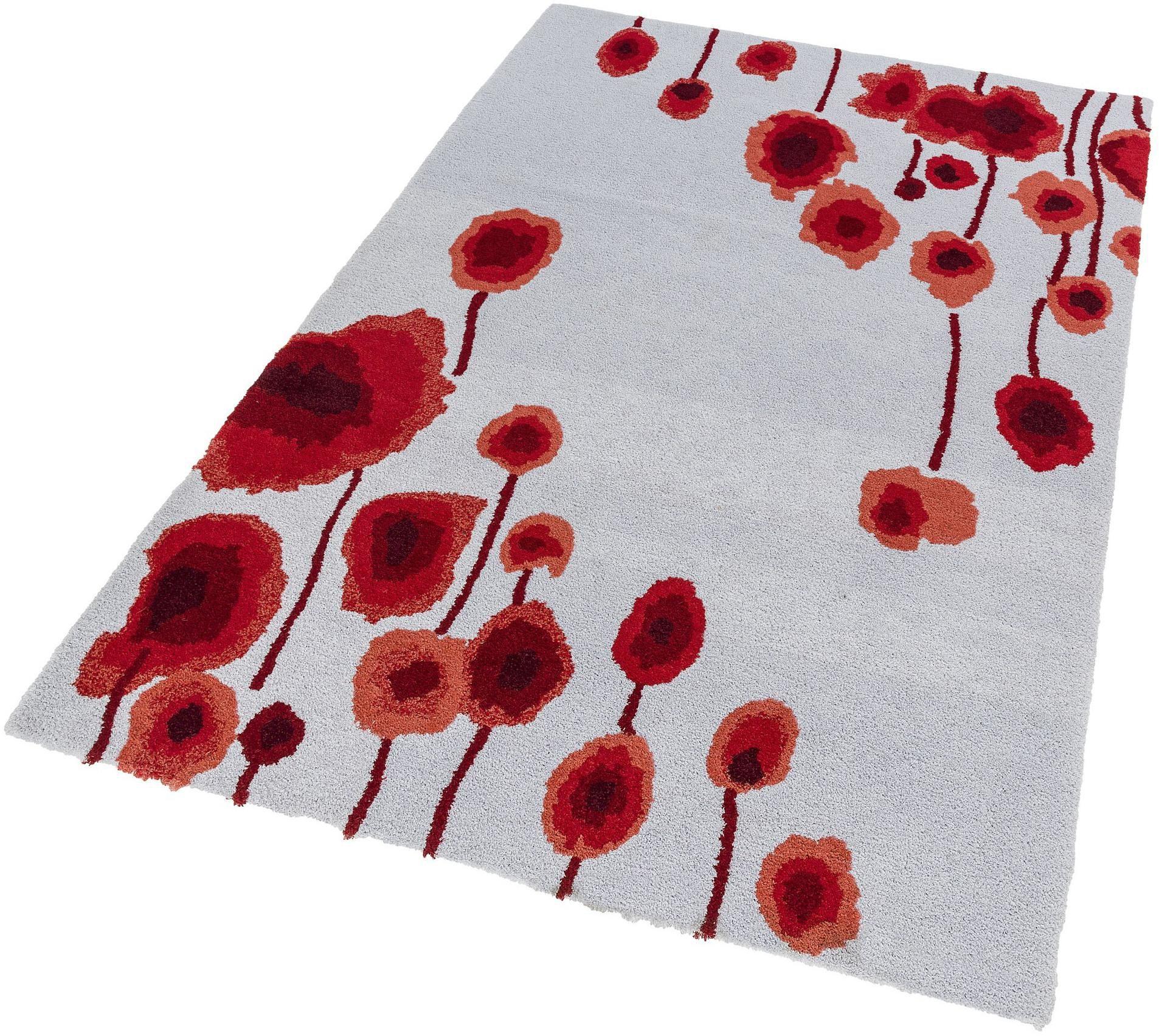Hochflor-Teppich Verona Blume ASTRA rechteckig Höhe 25 mm