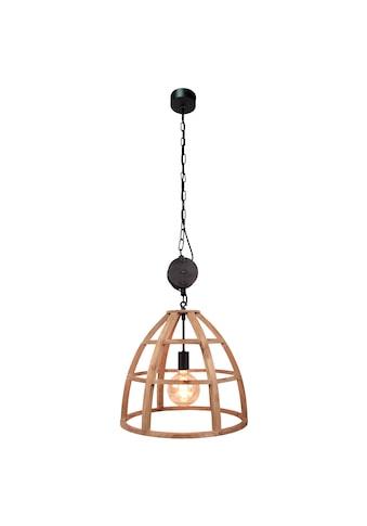 Brilliant Leuchten Matrix Wood Pendelleuchte 47cm antik holz/schwarz korund kaufen