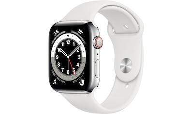 Apple Watch »Series 6 GPS + Cellular, Edelstahlgehäuse mit Sportarmband 44mm«, (Watch... kaufen