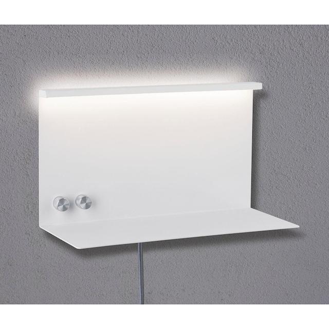Paulmann,LED Wandleuchte»Jarina mit Ablage 4,5 W/ 1,6 W«,